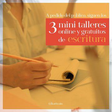 mini talleres de escritura creativa gratis