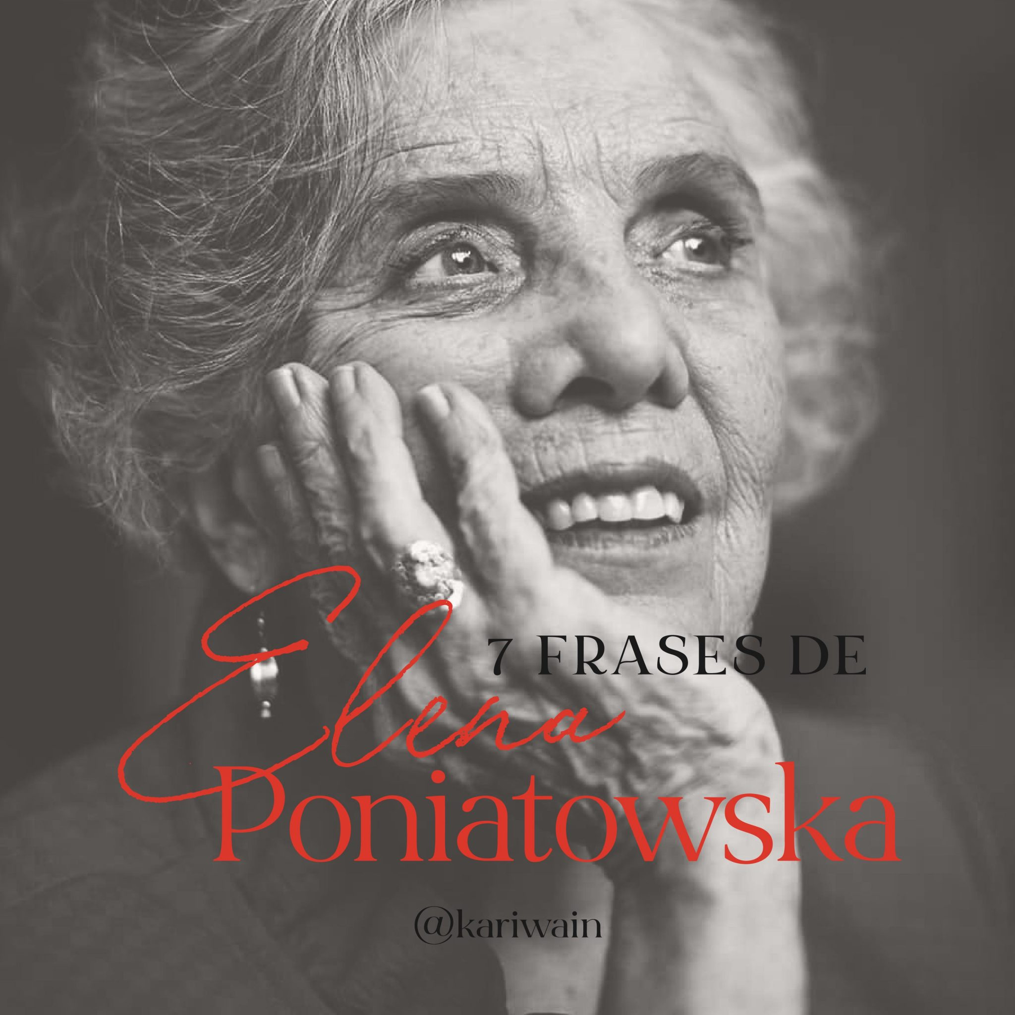 7 frases de Elena Poniatowska